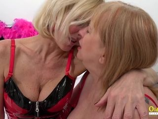 OldNannY Two Busty British Matures Lesbian Fun