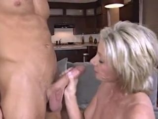 fucking with mature woman on the couch