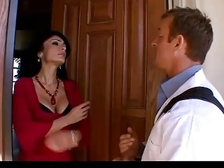 SEXY brunette MILF gets a doctor's visit at home