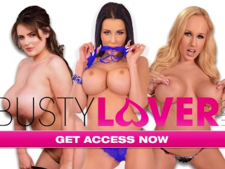 'Busty Lovers Kyra Hot & Cristina Miller suck each other's tits while getting fucked'