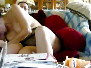 Nikki the slut sucking and fingered on sofa