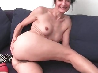 Hairy granny with big swollen cunt