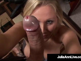 Hot Office Fantasies With Horny Milf Julia Ann & A Big Hard Throbbing Cock!