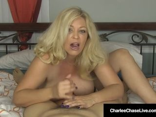 Big-titted light-haired cougar Charlee pursue jacks Your boner In sofa!