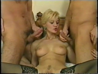 short hair italian whore takes in the one and the other holes