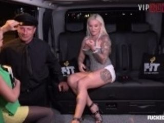 """Fucked In Traffic - Risky Car Threesome With Two Horny Girls - VipSexVault"""