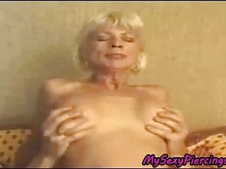 My Sexy Piercings granny with pierced pussy
