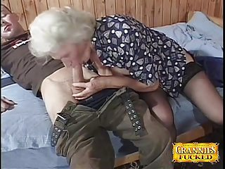 Granny Loves immature Cocks
