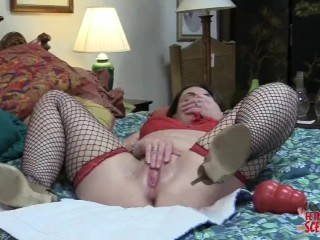 tabby births a large kong toy|17::Fetish,24::Interracial,46::Verified Amateurs