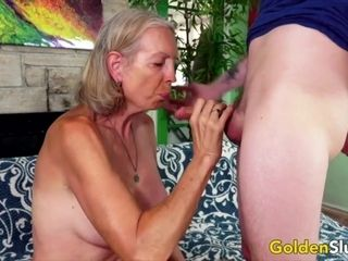 Golden Slut - Older Ladies Show off Their Cock Sucking Skills Compilation 5