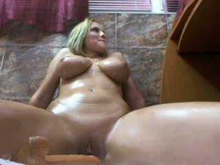 This rakish minx with big tits is no longer shy about masturbating on cam