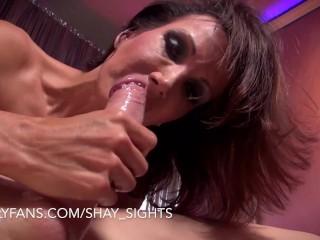 'Stripper Shay Sights Sucks Huge Cock in VIP Room'