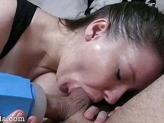 """She Made Me Cum Twice 1st with """"Blewit"""" then Rimjob and Milking my Prostate"""