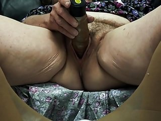 Grey prudish granny enjoys cum