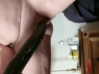 Piping hot grown-up Fucks themselves on touching trig Cucumber