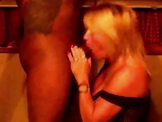 Observing My wifey On Her Knees For big black cock adore
