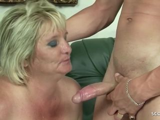 Unshaved monstrous Mature grannie Gabi lure to pulverize by youthful man