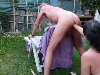 Amateur couple fisting guy massaging his prostate