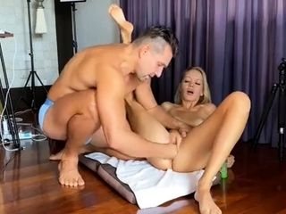 Stunning Canadian Blonde Milf Has A Guy