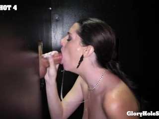 'Super Slut Tattooed Milf Enjoying The Hell Out Of Swallowing Multiple Loads From GloryHole'