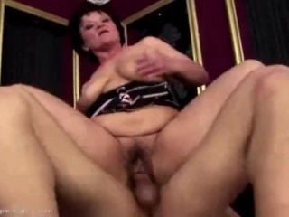 Fur covered mature gets caboose boinked and internal cumshot