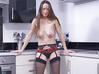 Nutriment of age mammy feeding pussy beyond pantry