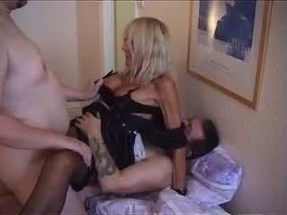 Blonde Old Maid Takes 2 Cocks And 2 Loads