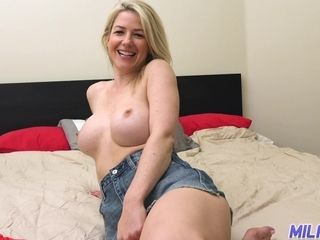 Marvelous busty sexy MILF is always ready for nice pussy fingering