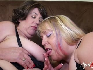 AgedLovE Two Mature Ladies in Hardcore Video