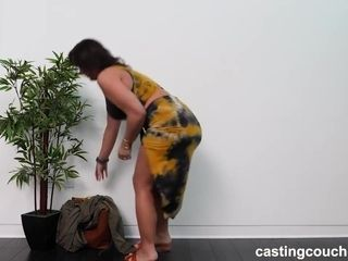 Plump, amateur lady, Chloe went to a porn video casting to masturbte or get fucked hard