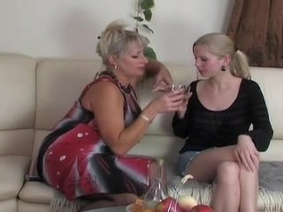 Russian aged and juvenile lesbian babes