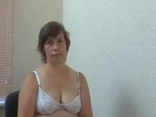 Russian Mature fucks boyin office