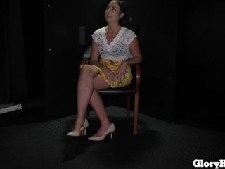 'Hot Wife Helena Sucks Big Dicks In GloryHole'