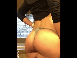 Naughty cougar sloppy chat after the gym