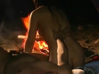 Chinese smooch - Tongue smooch & orgy by the Fire