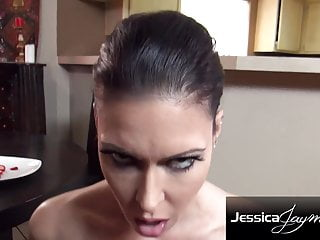Steaming cougar Jessica Jaymes inhale a monster manhood with crop juice