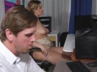 """""""Busty office colleague Nikky Dream gives stud blowjob at work"""""""