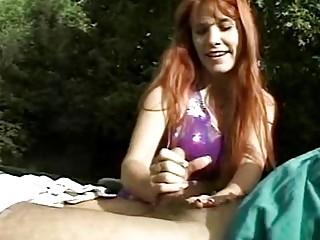Perfect Redhead Fantastic Handjob