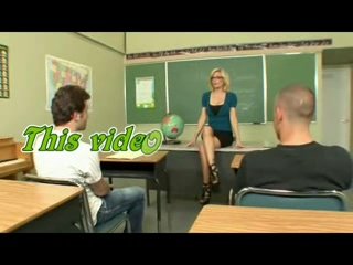 Sexy Older Teacher Educating Her Students