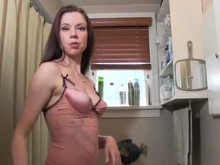 Jerking off in front of mommy