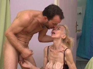 French unsightly older floozy Marie-The anorexique