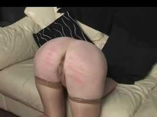 Blonde tart caned