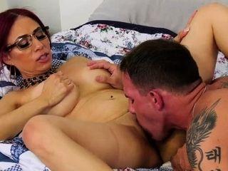Tramp grandmother latina penetrating a school boy