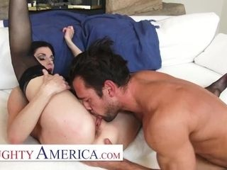 'Naughty America - India Summer gets back at her husband by fucking her personal trainer'