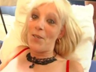 Blonde French mature crammed by several guys