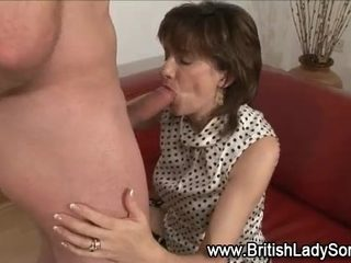 Mature british mistress gets cumshot