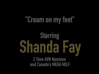 Hot Foot Fucked Housewife Shanda Fay Gets Cum On Her Fine Feet!
