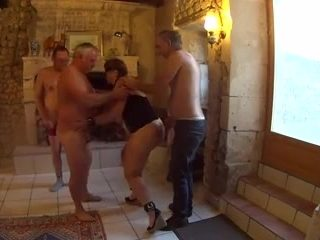 3 mature men uses france whore