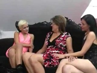 Group sex video featuring a lesbian cougar