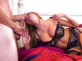 She Ties Her Husband And Sucks Her Neighbor's Big Cock